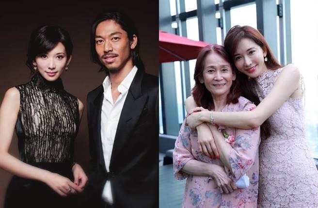 林志玲爆和AKIRA閃婚是為了媽媽吳慈美。(圖/翻攝自微博)