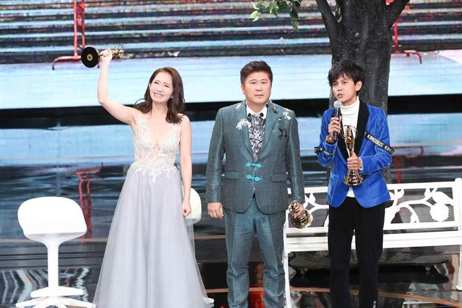 胡瓜、阿翔、谢忻去年以节目《综艺大集合》,获得金钟奖综艺节目主持人奖。(图/本报系资料照片)