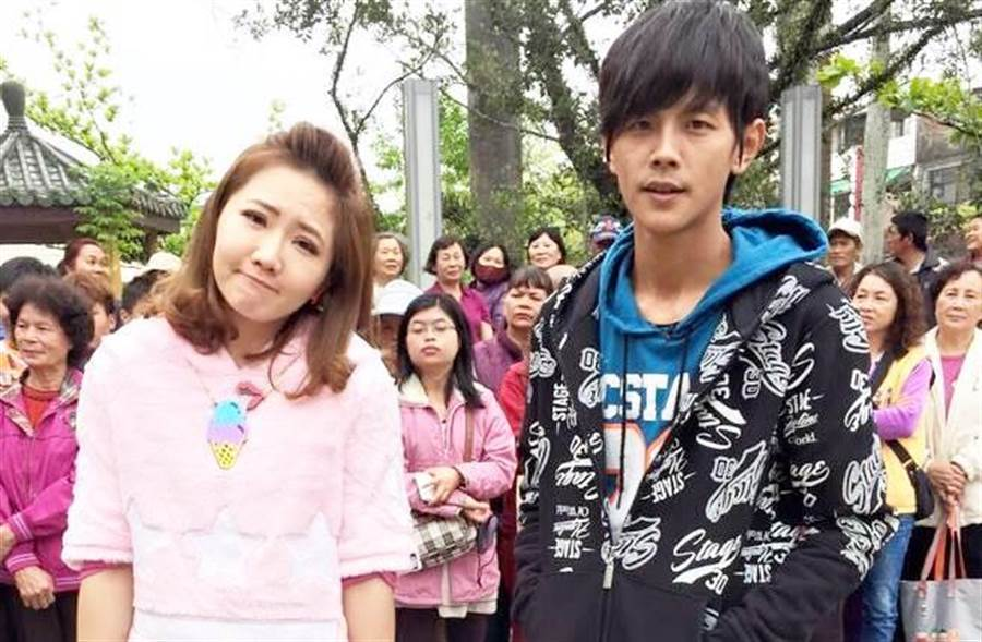 阿翔(右)和謝忻(左)爆出畸戀,震驚各界。(圖/中時資料照)
