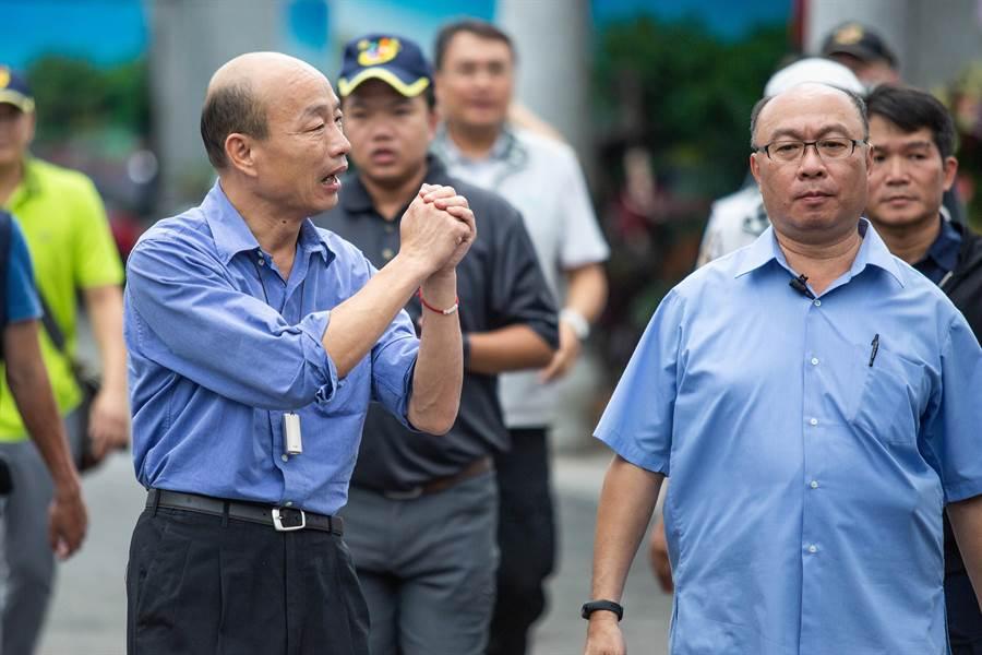 面對香港反送中議題,韓國瑜表示,香港、澳門的「一國兩制」台灣人民不會接受,台灣就是中華民國,有自己的憲法。(袁庭堯攝)