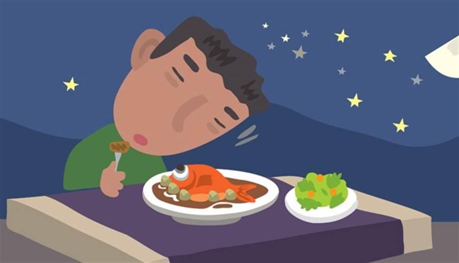有胃食道逆流的症狀,應該先從改變生活習慣做起。 (圖/鄭佳玲繪)