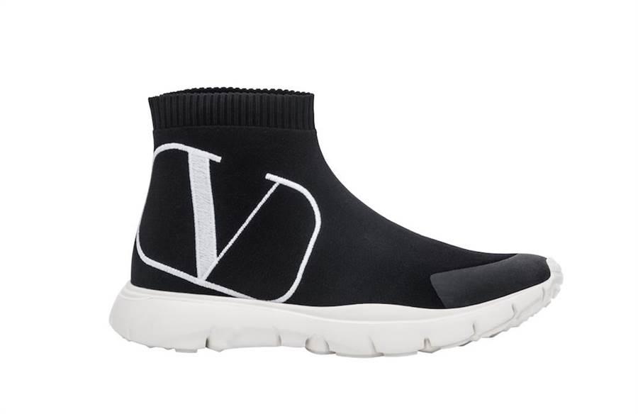 Valentino Garavani VLOGO高筒運動鞋,2萬4400元。(Valentino提供)