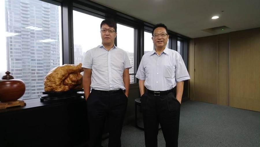 (富宇集團總經理鍾堯明(右)、執行長張世欣表示,富宇集團今年全台推案超過200億元。圖:曾麗芳)