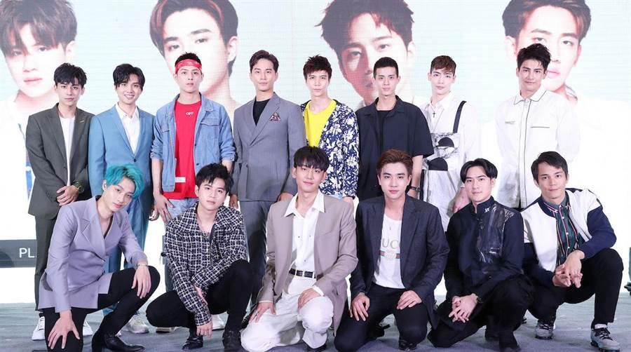 達騰娛樂與大陸最大中泰娛樂經紀公司漢森娛樂12日在上海電視節舉行泰劇發佈會。達騰娛樂提供