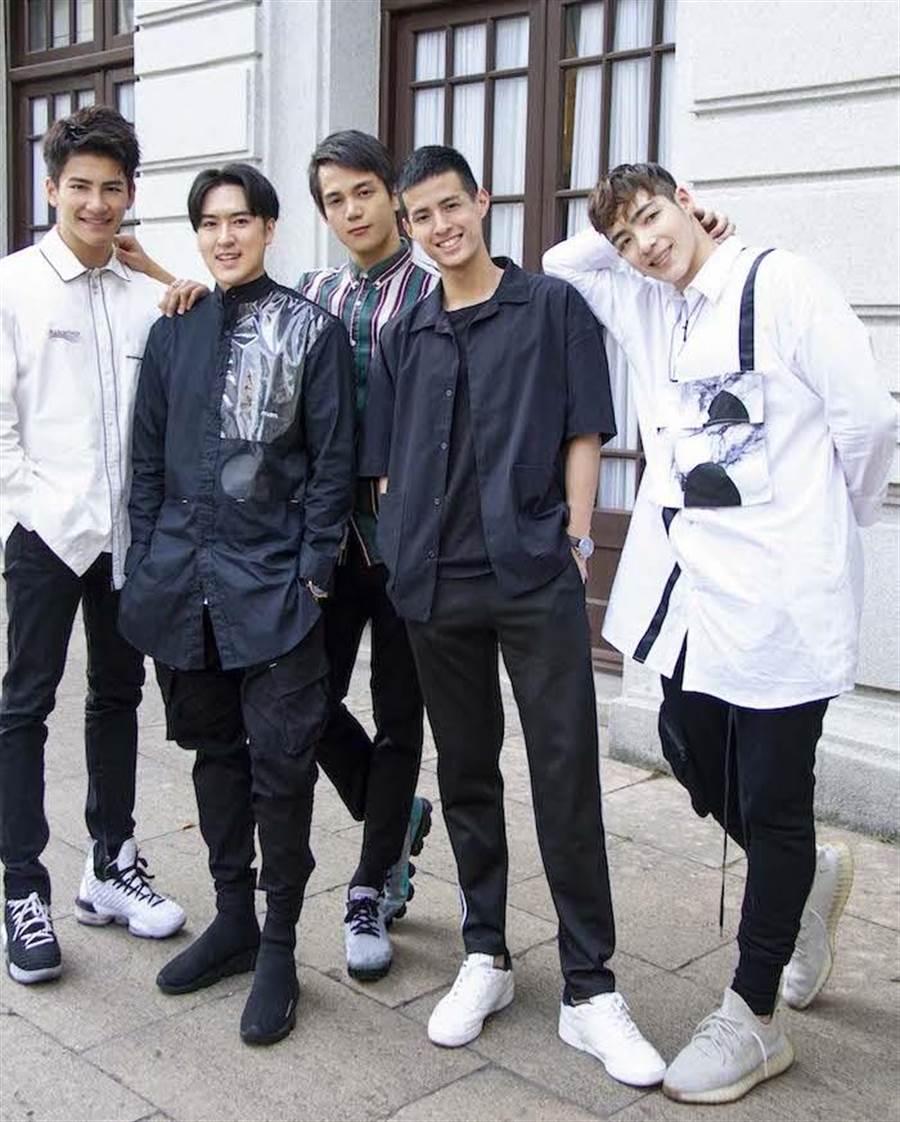 張又瑋(左起)、沈建宏、黃意喬、陳紫晧、黃士傑。達騰娛樂提供