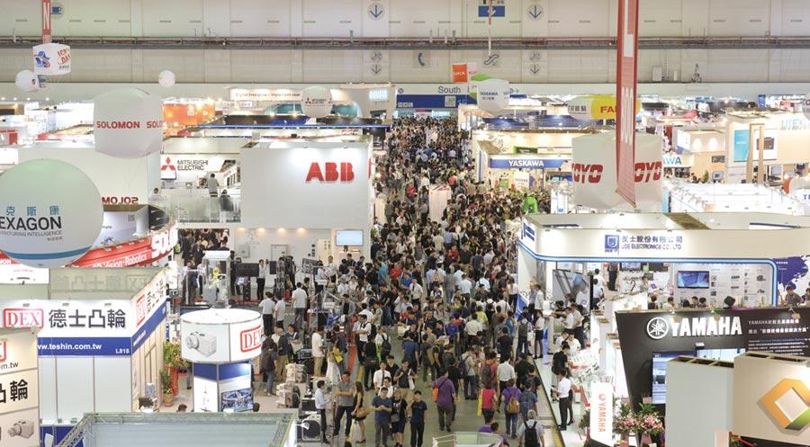台北國際自動化工業大展幫助科技業新產品打造發表平台;圖為去年展場盛況。圖/業者提供