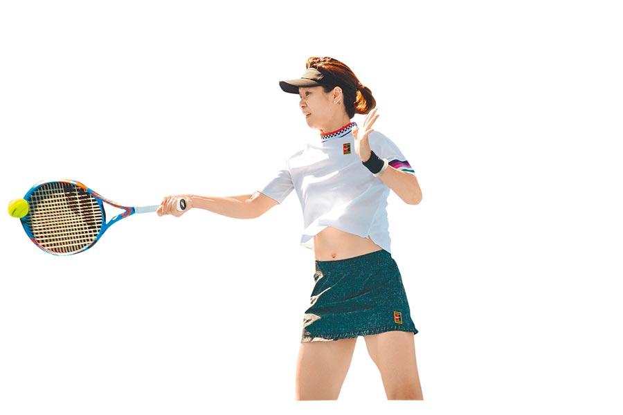 2019年澳洲網球公開賽元老賽女雙第一輪比賽中李娜出賽。(新華社資料照片)