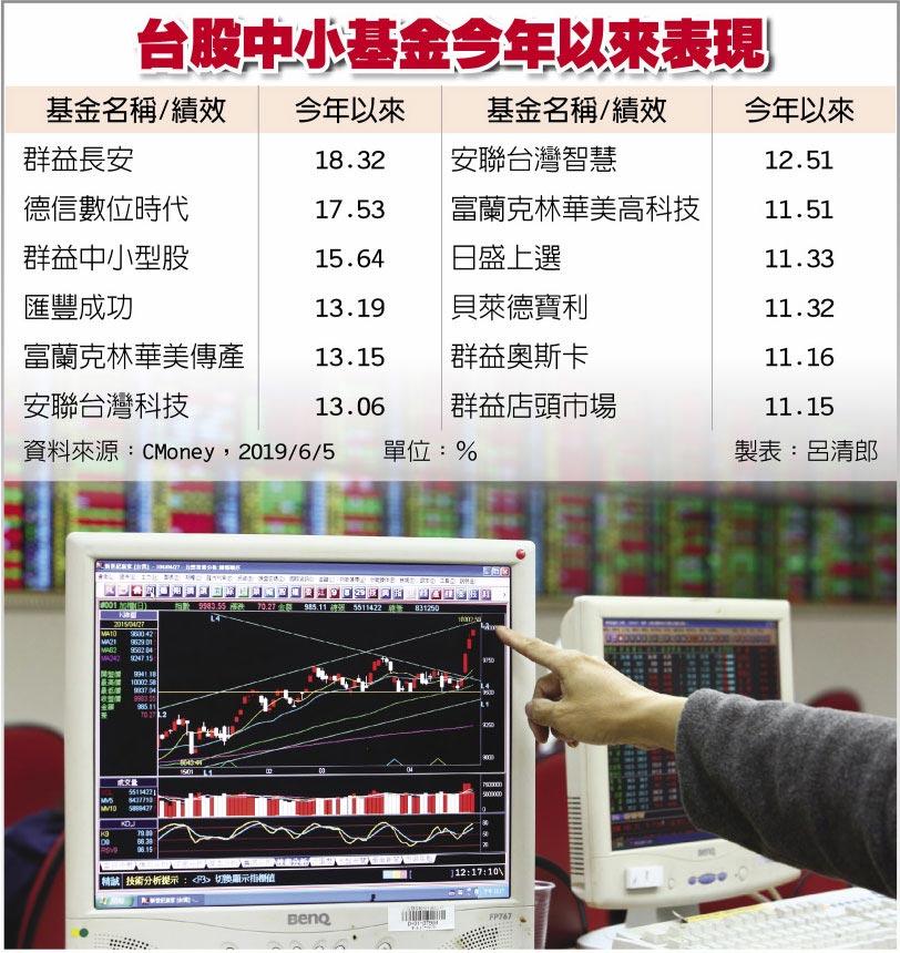 台股中小基金今年以來表現