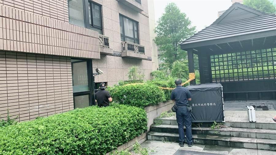 北市大安區13日下午發生女子墜樓不治。(陳鴻偉翻攝)