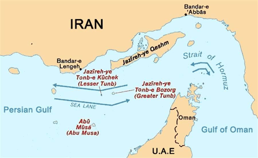 霍爾木茲海峽。(圖/維基百科)