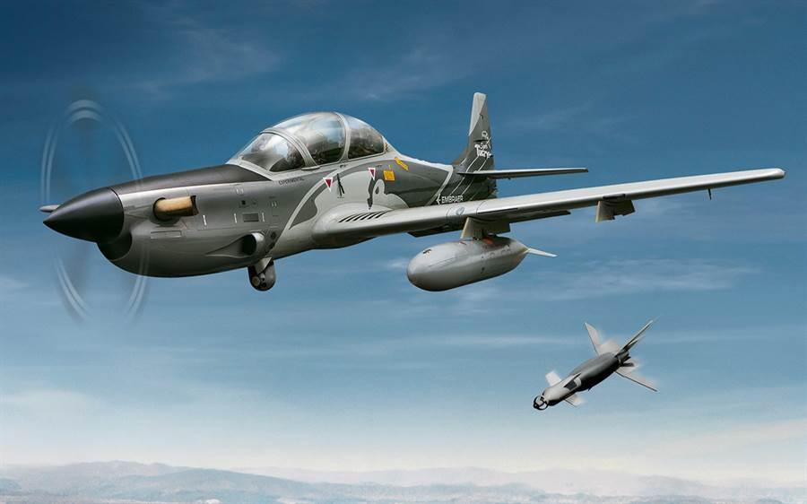 全球最大的軍火製造國美國,現在也將向巴西購買A-29超級大嘴鳥輕型攻擊機。(圖/巴西航空工業公司)