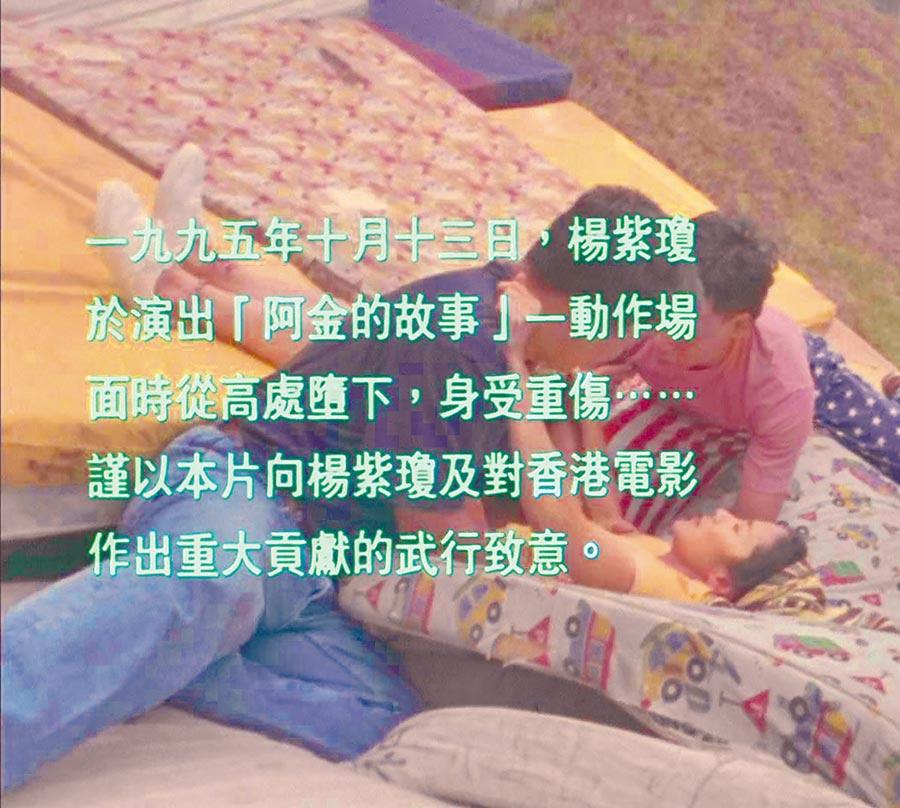 楊紫瓊摔傷險造成癱瘓。(翻攝自網路)