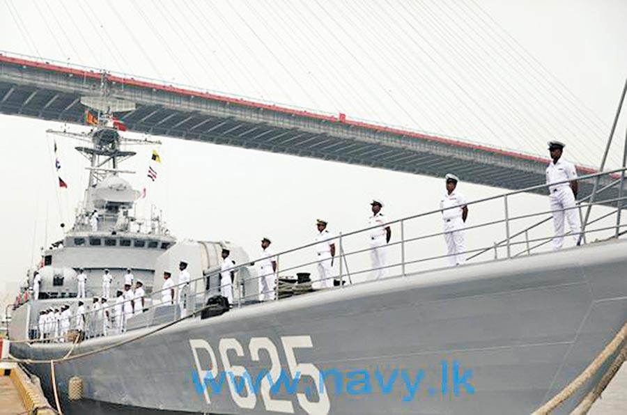 解放軍退役軍艦銅陵號移交斯里蘭卡,新舷號為P625。(取自斯里蘭卡海軍網)