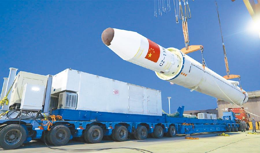 長征十一號運載火箭。(央視截圖)