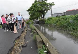暴雨現形記 秀水安東堤岸崩陷二林土堤也塌了