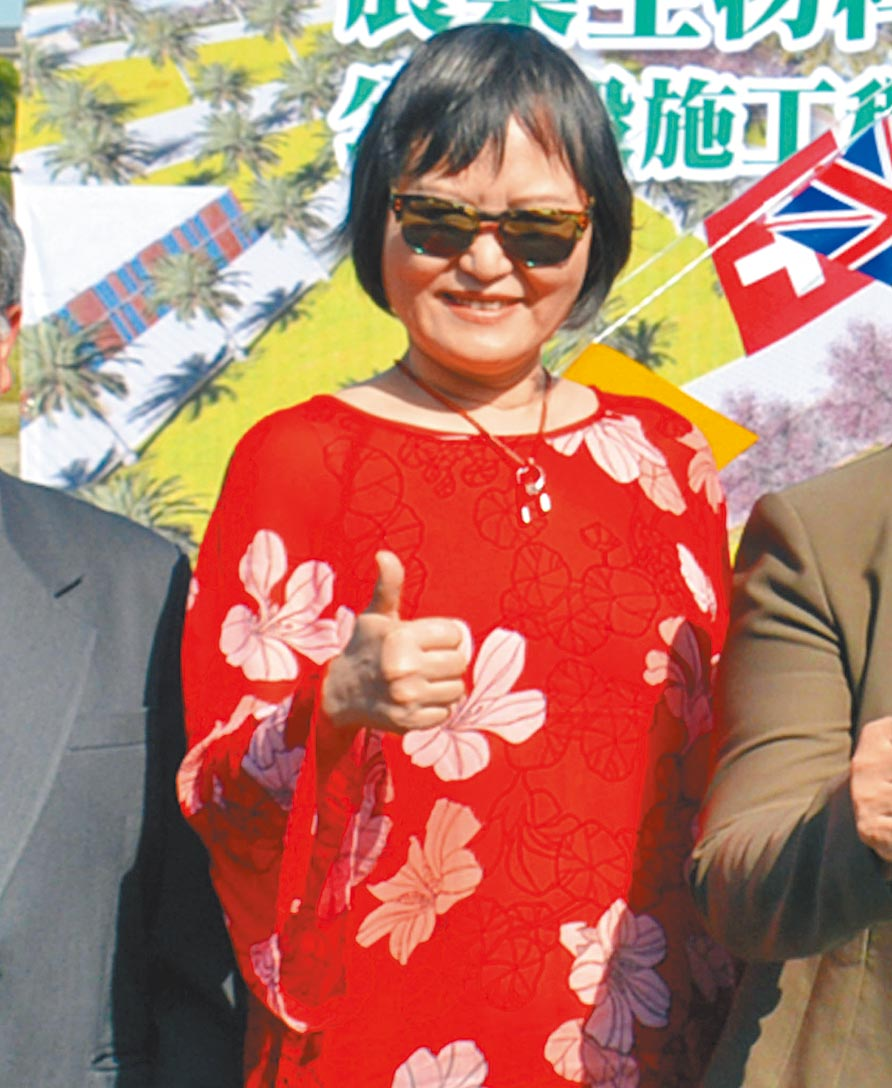 立法院長蘇嘉全妻子洪恆珠傳出有意以無黨籍參選。(林和生攝)