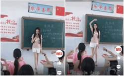 長腿女師活潑教學爆紅 下場卻GG