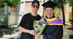 62歲陳凱倫拚到碩士 今畢業典禮全家總動員