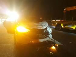 國道通霄段3車追撞5傷 頭車駕駛認酒駕