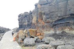 澎湖小門鯨魚洞 步道封閉