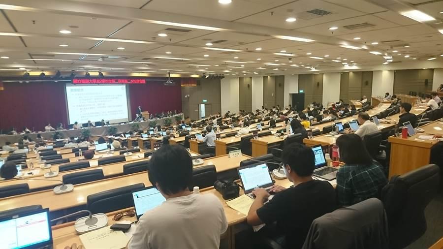 台大今日召開本學期第二次校務會議。(李侑珊攝)