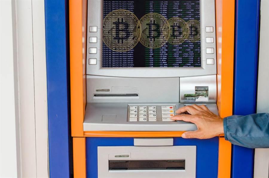 比特幣ATM示意圖。(圖/達志影像)