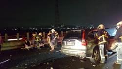 國道三號北上204公里6車連環追撞11人送醫