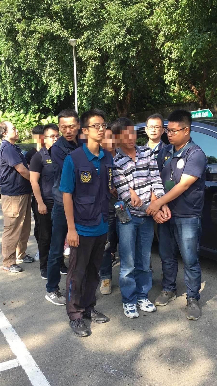 移民署台北專勤隊15日動員查緝非法外來人口,共緝獲92名非法移工。〔謝明俊翻攝〕