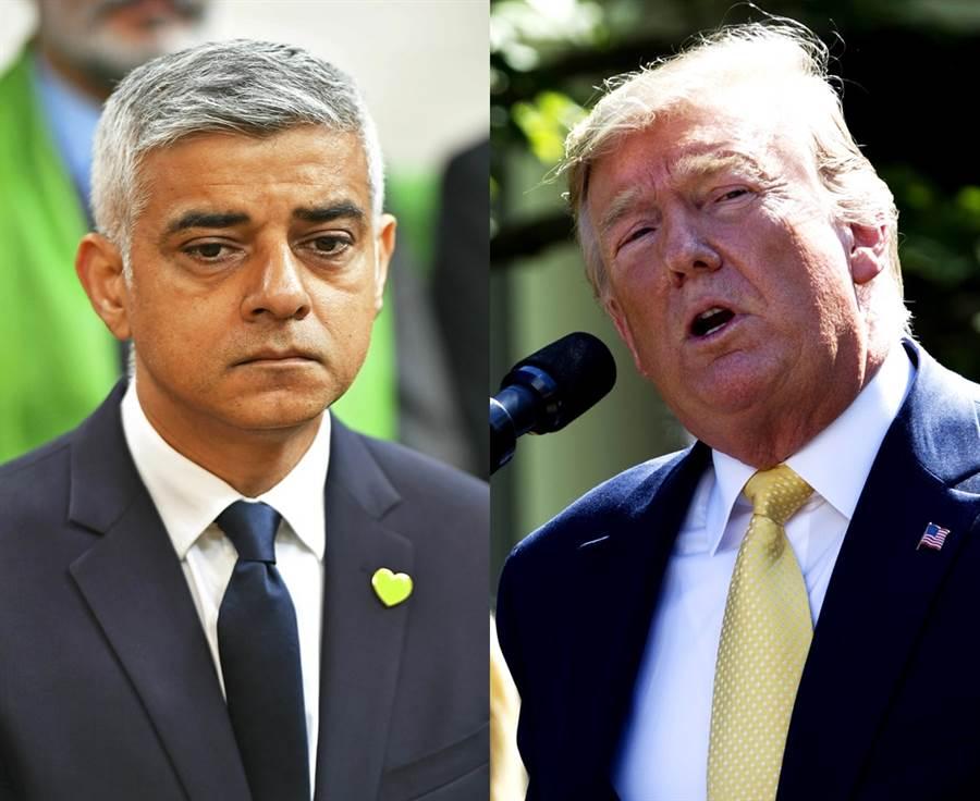 倫敦14日一連發生3起謀殺致死慘案,川普藉機開譙,狂酸死對頭倫敦市長沙迪克汗是「災難」、「國恥」,要倫敦趕快換一個新市長。(圖/美聯社)