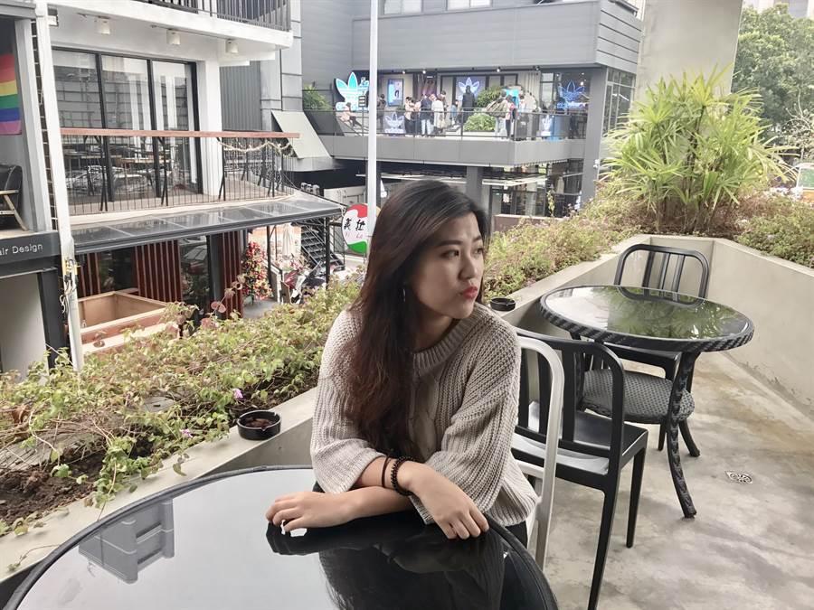 台中華盛頓中學國際部高二學生潘妍希,外型亮眼、個性溫柔,脾氣又好。(馮惠宜翻攝)