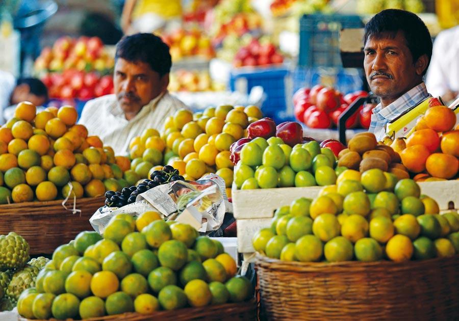印度經濟光環褪色圖╱路透