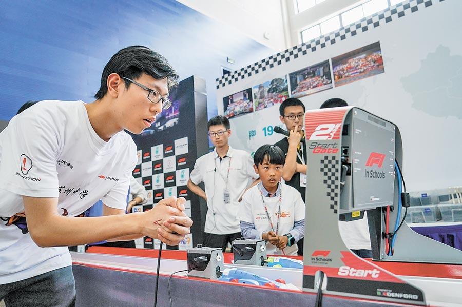 2019年5月11日,2019「F1在學校」挑戰賽中國區選拔賽蘇州開賽。(新華社)