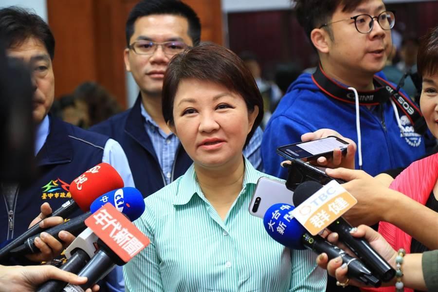韓國瑜22日台中大造勢,市長盧秀燕當天不會出席。(陳世宗攝)