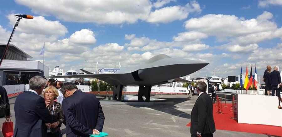 法德6代戰機FCAS,在2019年巴黎航空展展出。(圖/PAS19 twitter)