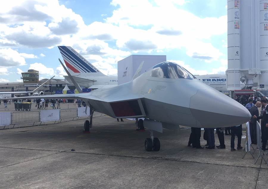 土耳其的5代戰機TFX,外型很像F-22。(圖/PAS19 twitter)