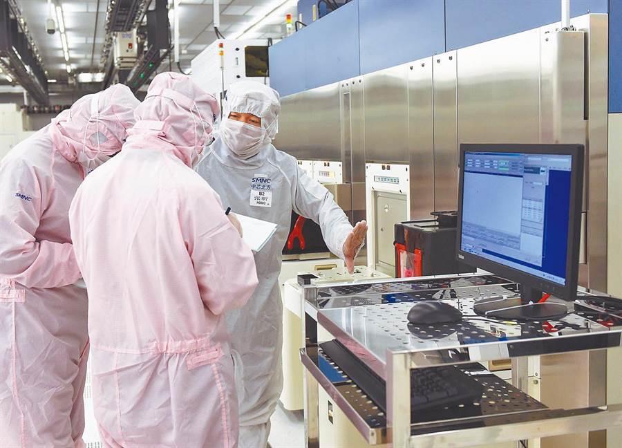 大陸力拚晶片「本地製造」。圖為中芯國際廠房一景。(新華社資料照片)