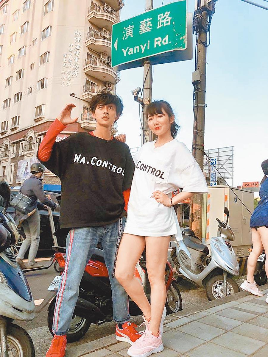 阿翔(左起)、謝忻婚外情曝光,重創演藝路。(取材自臉書)