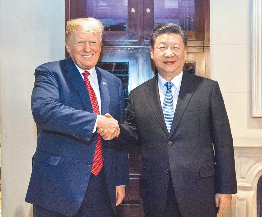 美元指數近期走弱,美國總統川普與大陸國家主席習近平能否在G20峰會見面,成為市場關注的焦點。圖為今年1月習、川二人在阿根廷首都布宜諾斯艾利斯會晤的畫面。(新華社)