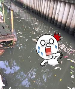 噁心愛之河! 泰河竟漂上百保險套