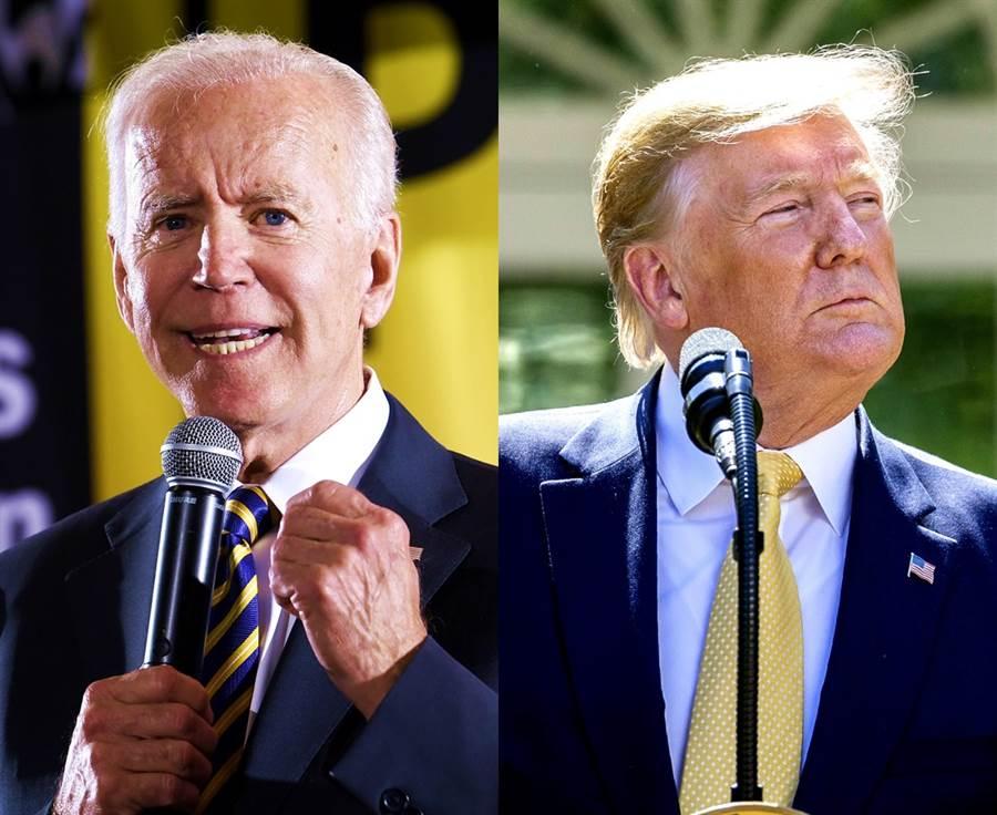 福斯新聞16日公布民調,顯示川普死對頭、民主黨候選人拜登支持率領先他10個百分點,令川普大酸福斯內部怪怪的。(圖/美聯社)