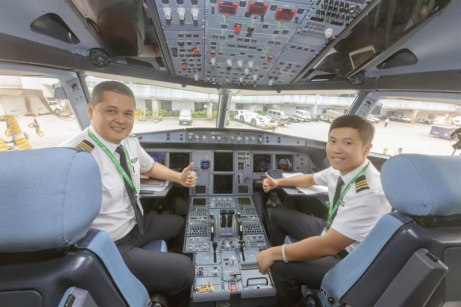 越竹航空推出「不只是飛行」的宣傳口號,主打提供舒適的飛行體驗,採用全新A321neo客機飛航峴港航線。(陳麒全攝)