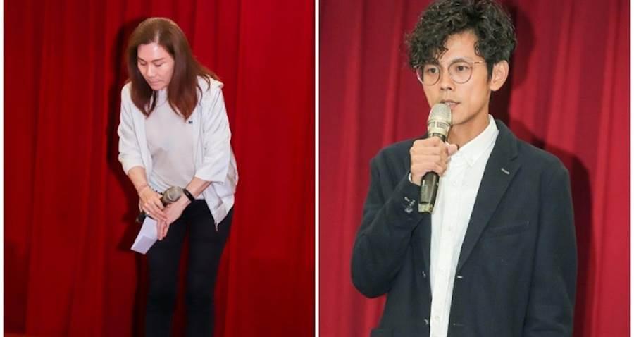 右為阿翔,左為經紀公司董事長莊淑瑾。盧禕祺攝