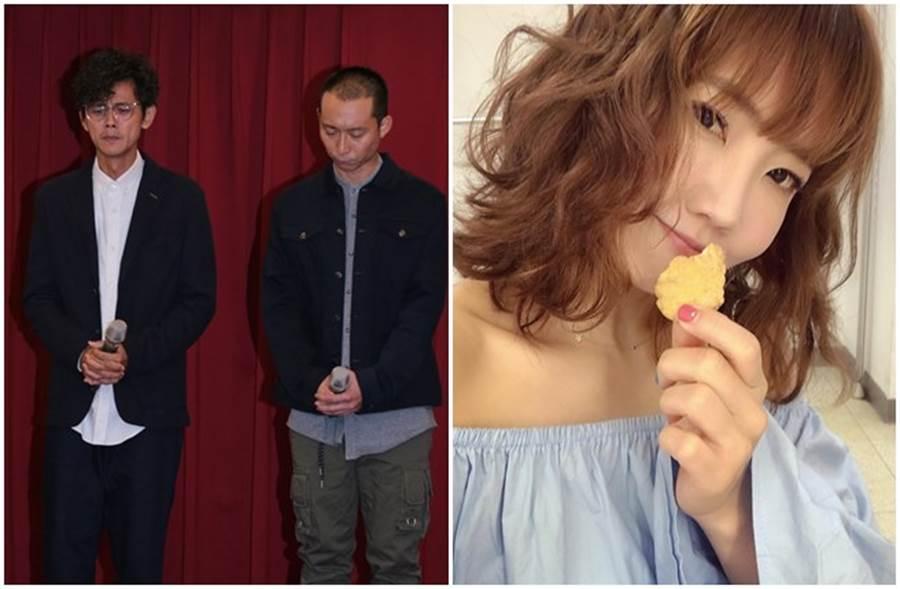 阿翔、謝忻爆婚外情,搭檔浩子今日陪同謝罪。(記者廖映翔攝、取自謝忻臉書)