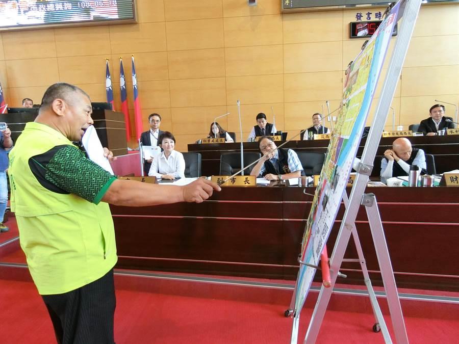 台中市議員蕭隆澤建議市府重新檢討整合大台中市的都市計畫,確定大台中的都市核心、副都心。(盧金足攝)