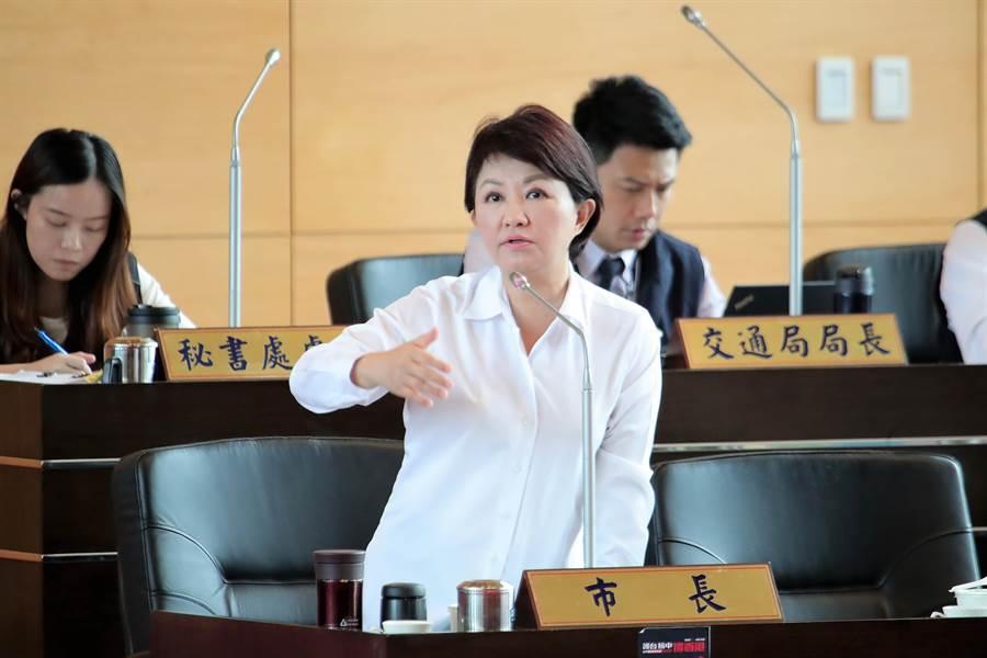 台中市長盧秀燕強調,這個時代最不缺假新聞或攻擊性新聞,市府以務實態度面對,提供可行計畫,逐步推動。(盧金足攝)