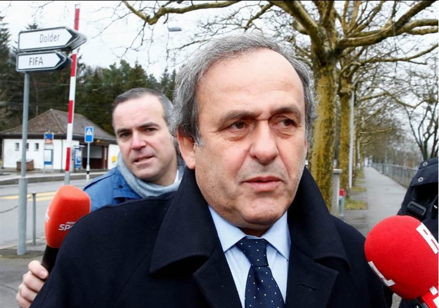 前歐足聯主席普拉提尼因涉入世足弊案,遭法國警方拘留,圖為他在2016年公開現身的照片。(路透資料照)