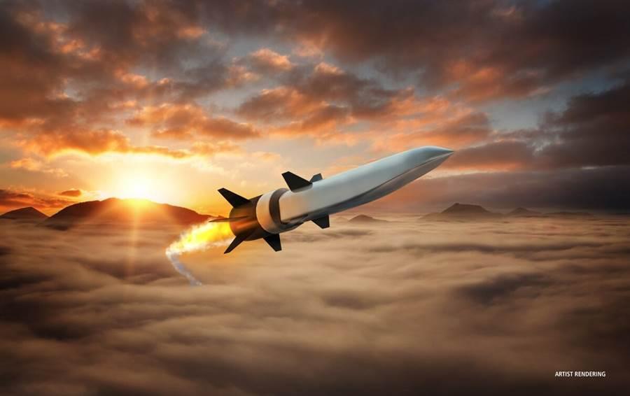 美國雷神公司設計的超高音速武器概念圖。(圖/雷神公司)
