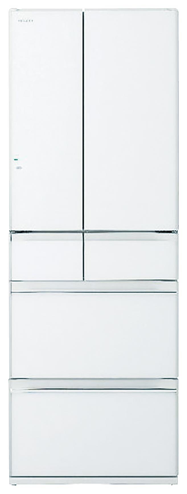 燦坤的HITACHI 607公升白金觸媒ECO六門超變頻冰箱,原價8萬6900元,燦坤加碼優惠價7萬4310元,現折1萬2590元。(燦坤提供)