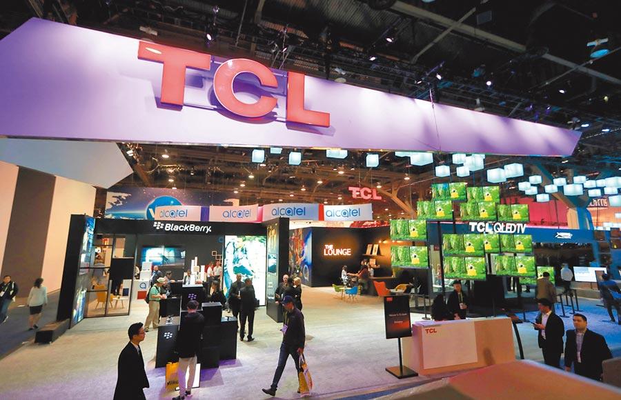 2018年1月9日,TCL參加美國拉斯維加斯消費電子展。(新華社)