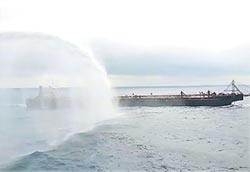 海巡署無人機建功 驅離陸抽砂船